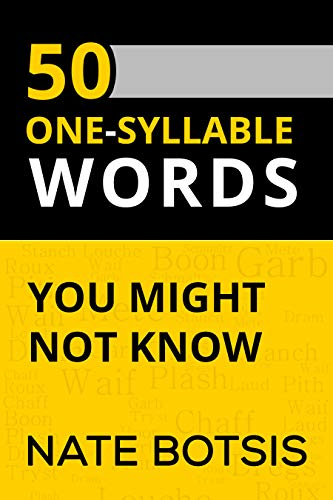Free: 50 One Syllable Words You Might Not Know